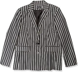 Karl Lagerfeld Paris 女士条纹缺口领夹克