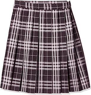 KONAMI 制服 学校 裙子 百褶 上学用 格子 高中生 中学生 学生 学校 棕色×米色粉色 ARCS-1068 女款