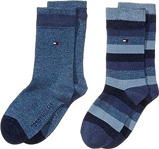 TOMMY HILFIGER 男孩袜子 TH 儿童基本条纹袜子2 P