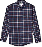 Amazon Essentials Men's Long-Sleeve Large-Scale Plaid Flanne…