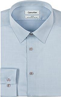 Calvin Klein 男士非鐵人字形修身純色襯衫