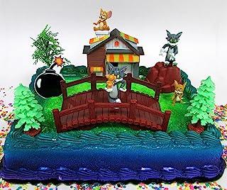 汤姆和杰里 11 件生日蛋糕装饰套装特色是汤姆和杰里人物以及装饰性主题配件