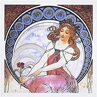 VintageChest - 新艺术品 - Mucha - Muse of Painting - 贺卡 Set of 6 Greeting Cards
