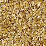Edible Glitter .04oz-Gold Stars