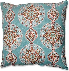 Pillow Perfect Mirage *章地板枕头,24.5 英寸,蓝色橙色