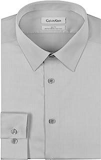 Calvin Klein 男士非铁人字形修身纯色衬衫