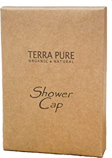 Terra Pure Green Tea Shower Cap Recycled Paper, Soy Ink Box (Case of 500)