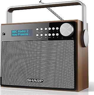 SHARP 夏普 DR-P350 数字收音机,DAB/DAB +/FM 带文字轮播功能,闹铃/睡眠和贪睡功能,棕色