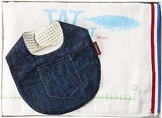 Exprenade(Exprenade) 身高计量毛巾 × 纱布围兜 礼品盒套装 トリコ × デニム