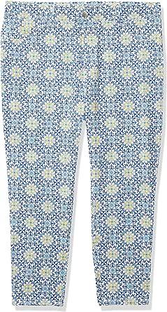 Rafaella 女式舒适修身泳池瓷砖印花紧身七分裤