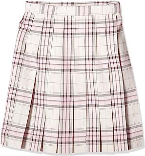 KONAMI 制服 学校 裙子 百褶 上学用 格子 高中生 中学生 学生 学校 白色×粉色 ARCS-1076 女款