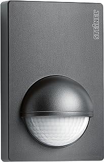STEINEL 运动传感器 IS 180-2 煤灰色 180° 移动探测器 12 米范围 角落支架 可达1000 W 或 6 个 LED 灯