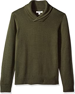 Goodthreads Men's Soft Cotton Shawl Pullover Sweater, Solid Olive, Medium