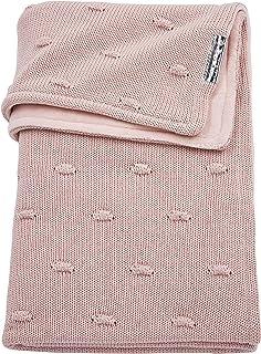 Meyco 2754052 婴儿被 冬季针织丝绒和结 100x150 厘米,粉红色