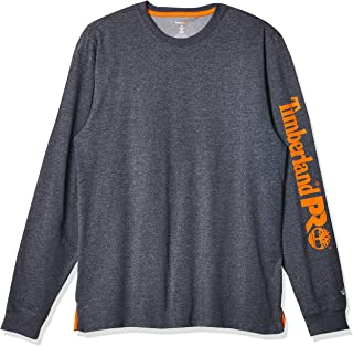 Timberland 添柏岚 PRO 男式底板混纺长袖 T 恤,带徽标