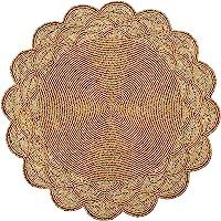 餐桌用串珠餐垫 直径 13 英寸(约 33.0 厘米)- 金色,串珠餐垫圆形,适合聚会、感恩节 - 偶尔装饰和家庭聚会庆…