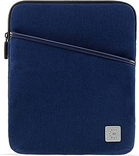 舒适的平板电脑内胆包适用于 12.9 英寸 iPad Pro 2020 和智能/魔术键盘,带配件袋 - iPad 防水内胆包,*蓝