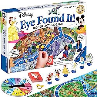 Wonder Forge Ravensburger 棋盘游戏,迪斯尼之眼世界发现,适合4岁及以上男孩和女孩-您想会一次又一次玩的有趣的家庭游戏