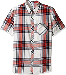 Element 男式 Buffalo 短袖梭织衬衫