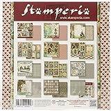 STAMPERIA SBBS01 小纸垫 10 张双面爱丽丝多色,20.3 x 20.3 (20.32 x 20.32…