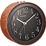 SEIKO 精工 时钟 闹钟 模拟 深茶色 木纹 KR504A SEIKO