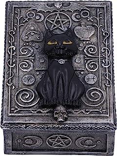 Nemesis Now Familiar Spell Black Cat Sigil 饰品盒 13.7 厘米,银色