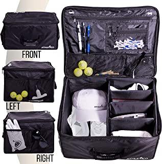 Athletico 高尔夫行李箱收纳架 - 汽车高尔夫储物柜用于存放高尔夫配件 | 不使用时可折叠