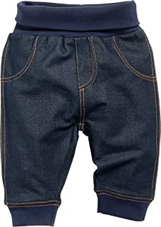 Playshoes 婴儿田径服下装花朵图案牛仔裤外观长裤