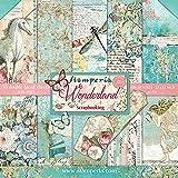 STAMPERIA 纸垫 10 张双面 Wonderland 纸 多色 30.5 x 30.5 (30.5 厘米 x 3…