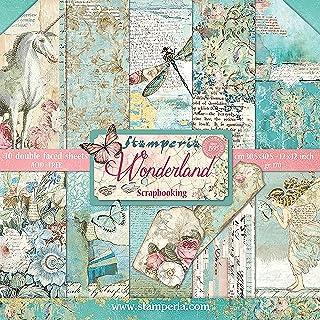 STAMPERIA 纸垫 10 张双面 Wonderland 纸 多色 30.5 x 30.5 (30.5 厘米 x 30.5 厘米)