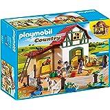 PLAYMOBIL 摩比世界 Country 小马农场拼插玩具 6927,带有很多动物和草料棚,适合4岁以上儿童