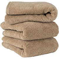 毛巾研究所 [丰盈] #003 浴巾 砂米色 3条装 蓬松 酒店规格 高速吸水 耐久性 人气 [无绒] [5种颜色] J…