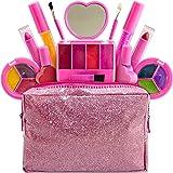 女孩儿童化妆包 - 13 件套可洗儿童化妆套装 - My First Princess 化妆套装包括腮红、唇彩、眼影、唇…