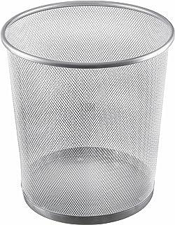 YBM 家用网状垃圾篮垃圾桶适用于家庭和办公室工作空间,金属办公室垃圾桶圆形,4.75 加仑,2485
