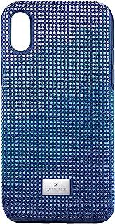 SWAROVSKI Crystalgram 智能手机保护套带缓冲器,iPhone X/XS,蓝色