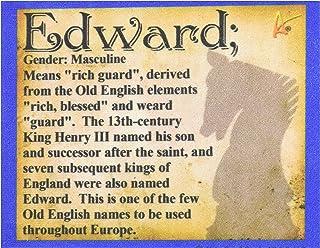*佳终极熨烫 Edward 姓名旅行可收藏纪念品贴片 - 个性化识别姓名描述明信片类型质量图形 - Edward
