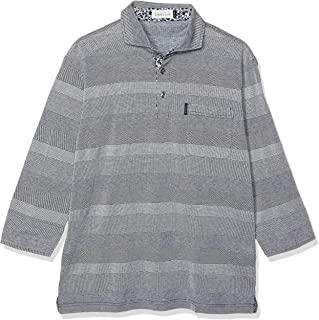 ELEMENT OF SIMPLE LIFE Polo衫 七分袖 条纹横条纹 男士