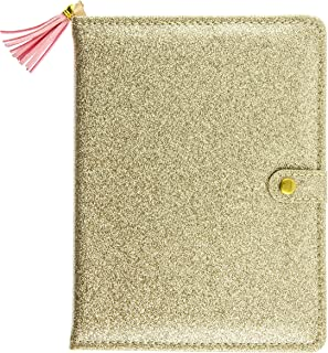 Graphique Glitter Love Snap 日记本 金色闪光 – 可爱便携式笔记本 200 页横格页,6 x 8.25 x 0.75 英寸(约 15.2 x 20.9 x 1.9 厘米) – 非常适合做笔记、做清单等