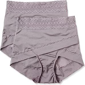 ATSUGI 厚木 矫正型内裤 骨盆矫正 骨盆交叉带束腹内裤 提臀(2条装) 棕色 日本 LL-(日本サイズ2L相当)