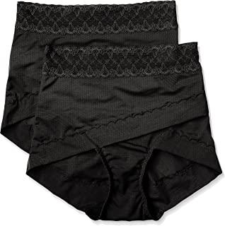 ATSUGI 厚木 矫正型内裤 骨盆矫正 骨盆交叉带束腹内裤 提臀(2条装) 黑 M