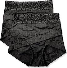 ATSUGI(アツギ) 厚木 女士矫正短裤 (Kotsuban Meiku) 骨盆交叉短裤 腹部压紧器 加深臀部 <2 件套>,黑色,Medium