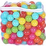 BalanceFrom 2.5 英寸不含邻苯二甲酸盐 不含双酚 A *抗压球球 - 6 种鲜艳颜色,可重复使用且耐用的储…