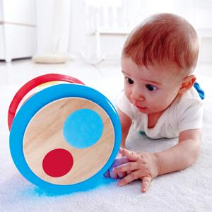 When stood, the Baby Drum can be beaten like a drum;roll;light