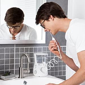 oral irrigator, water flosser, waterflosser, dental water jet, mouth irrigator, dental, oral, floss