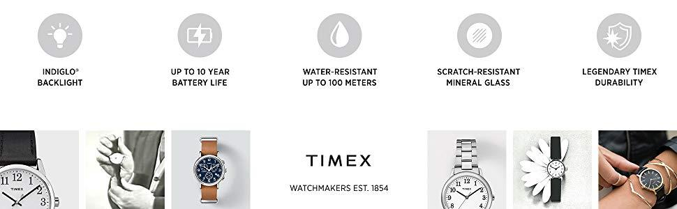 timex, expedition, indiglo, water resistent