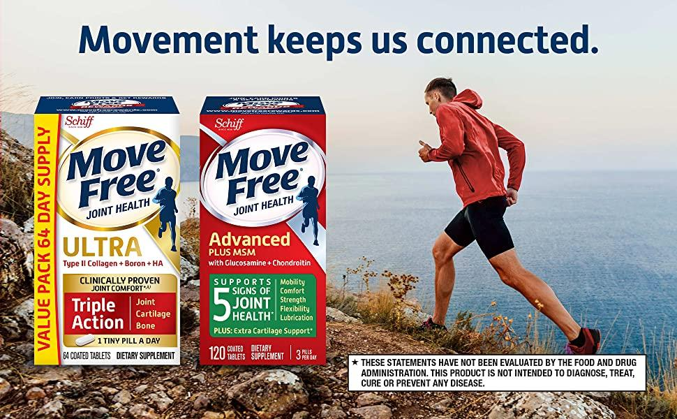 Move Free Advance Ultra Gift Pack Glucosamine Chondroitin Type II Collagen