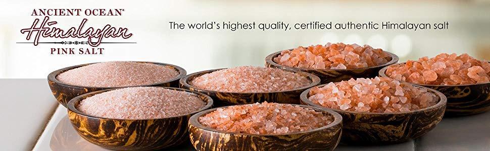 Ancient Ocean, Himalayan, Pink, Salt, SaltWorks, Salt in bowls