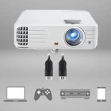 Viewsonic projector dual hdmi connectivity usb power supply multimedia devices