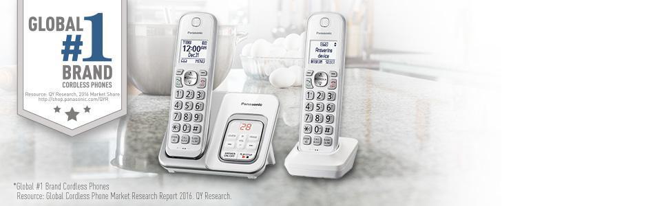 Panasonic KX-TGD532W 2 Handset Landline Telephone White 1.6
