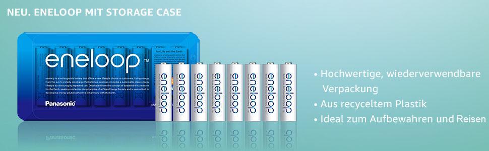 storage case, wiederverwendbare Verpackung, recyceltem plastik, aufbewahren, Akku, Batterie